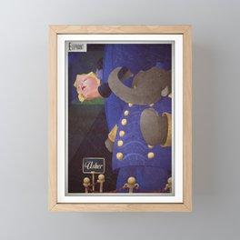A-Z Animal, Elephant U**er - Illustration Framed Mini Art Print