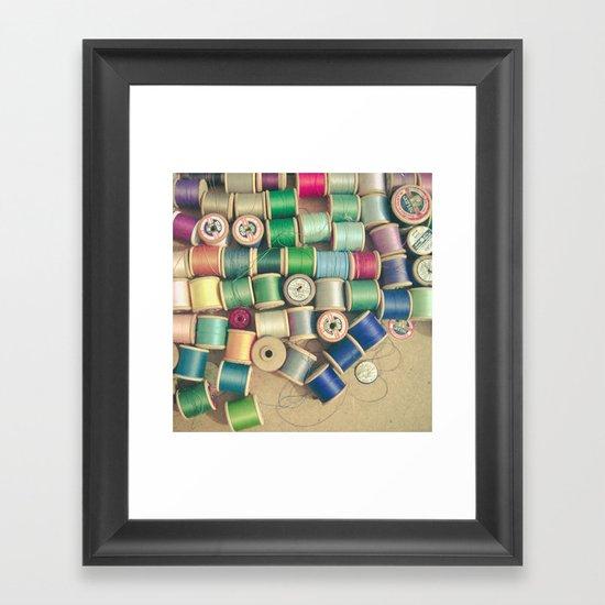 Cotton Reels Framed Art Print