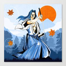Fall maple leafs and Ukyo Canvas Print