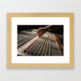 Festival Soundboard Photo Framed Art Print