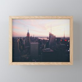 NYC Sky Framed Mini Art Print