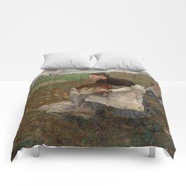 Jules Bastien Lepage - October, 1878 Comforters