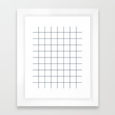 Chek - check grid simple minimal black and white modern urban brooklyn nashville hipster gifts Framed Art Print