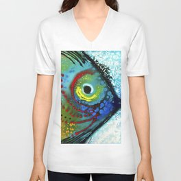 Tropical Fish - Colorful Beach Art By Sharon Cummings Unisex V-Neck