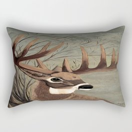 Buck with big racks  Rectangular Pillow