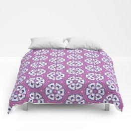Purple geometric floral pattern Comforters