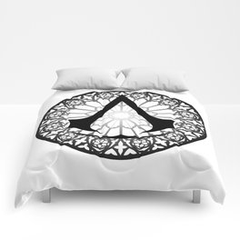 Assassin's Creed Logo Notre Dame Comforters