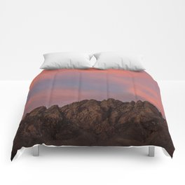 Sunset over the Organ Mountains Comforters