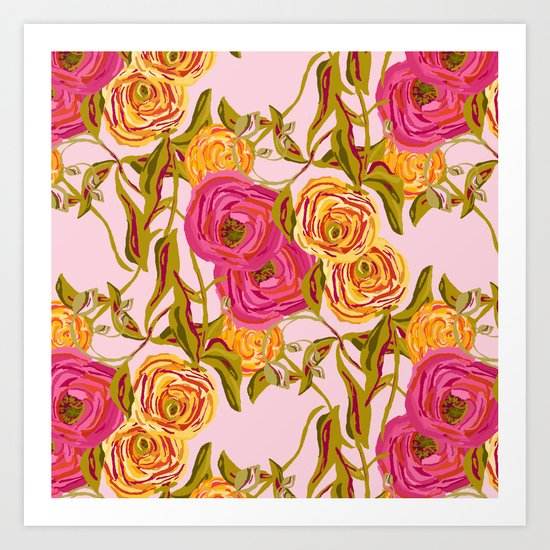Ranunculus Garden Art Print