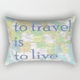 Travel United States of America Rectangular Pillow