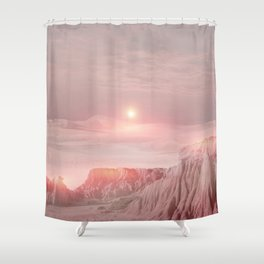 Pastel desert Shower Curtain