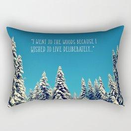 I Went to the Woods Rectangular Pillow