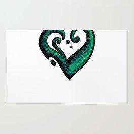 Heart / قلب (green) Rug