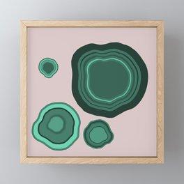 Malachite Framed Mini Art Print