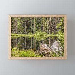 Quiet Forest lake Framed Mini Art Print