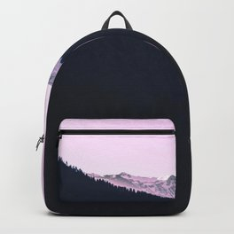 Mountain Forest Sky Pink Pastel Backpack
