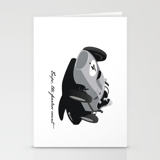Fearless Count Black & White Stationery Cards