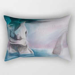 Mermaid?-Embraced couple-Nude Rectangular Pillow
