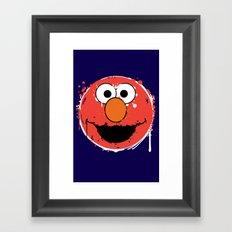 Elmo splatt Framed Art Print