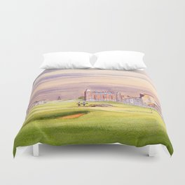 St Andrews Golf Course Scotland 17th Green Duvet Cover