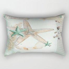 Summer Sea Treasures Beach Rectangular Pillow