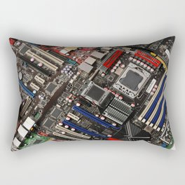 Computer motherboard Rectangular Pillow