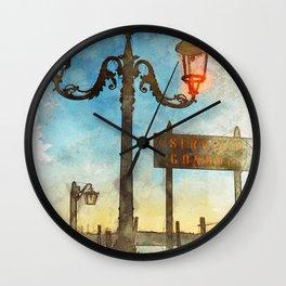 Venezia Servizio Gondole - SKETCH Wall Clock