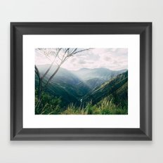 Light in the Mountains Framed Art Print