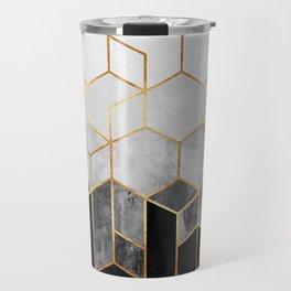Charcoal Hexagons Travel Mug