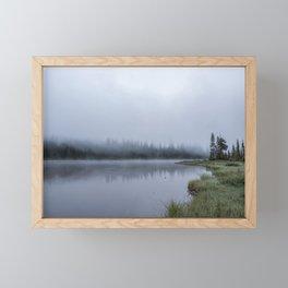 Foggy Morning at Reflection Lake Framed Mini Art Print