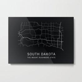 South Dakota State Road Map Metal Print