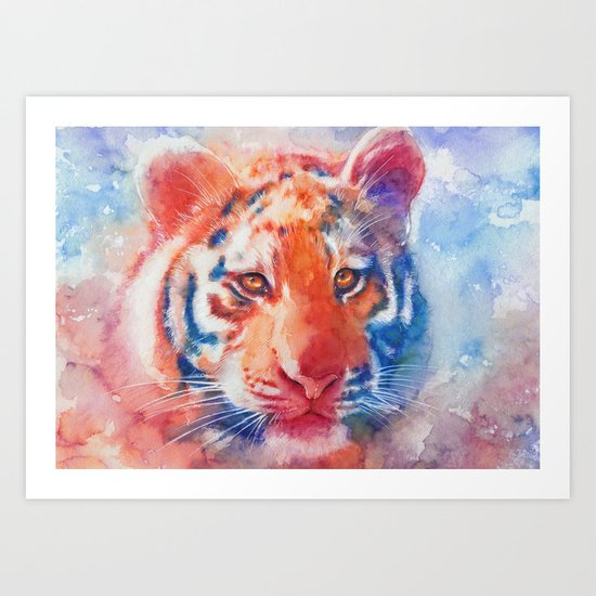 Staring into your soul Art Print