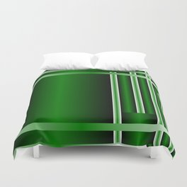 stripe green background with bright Duvet Cover