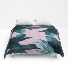 Tropical Palm Print #2 Comforters