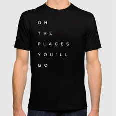 The Places You'll Go I Black MEDIUM Mens Fitted Tee