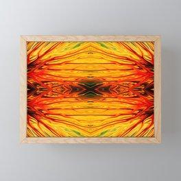 Orange Firethorn Quad IV by Chris Sparks Framed Mini Art Print