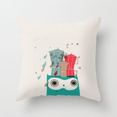 Owl Aloud Throw Pillow