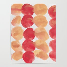 4  | 190408 Red Abstract Watercolour Poster