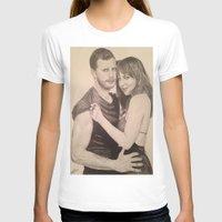 allyson johnson T-shirts featuring Jamie Dornan - Dakota Johnson by Virginieferreux