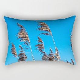 Reeds in golden light Rectangular Pillow