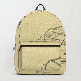 Grand Piano Patent - Antique Ivory Backpack