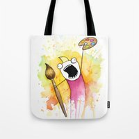 meme Tote Bags featuring Meme by Olechka