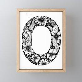 O Floral Monogram Framed Mini Art Print