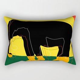 abstract, elephant Rectangular Pillow