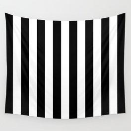 Parisian Black & White Stripes (vertical) Wall Tapestry
