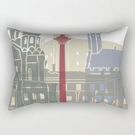 Tallinn skyline poster Rectangular Pillow