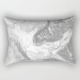 NORTH BEND WA TOPO MAP - LIGHT Rectangular Pillow