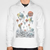 iphone 5 case Hoodies featuring Voyages over Edinburgh by David Fleck