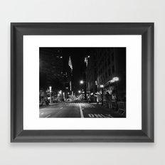Lexington Ave.  1:15am Framed Art Print