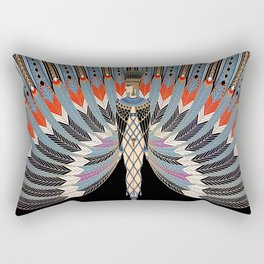 "Art Deco Egyptian Design ""The Nile"" Rectangular Pillow"